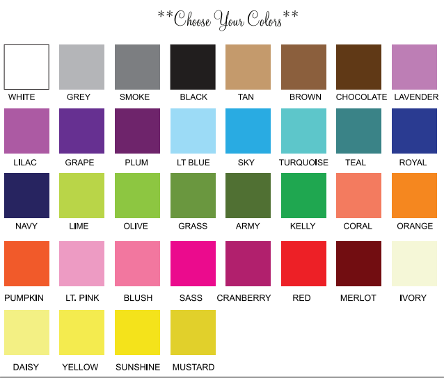 Color Cutting Board Chart Rebellions